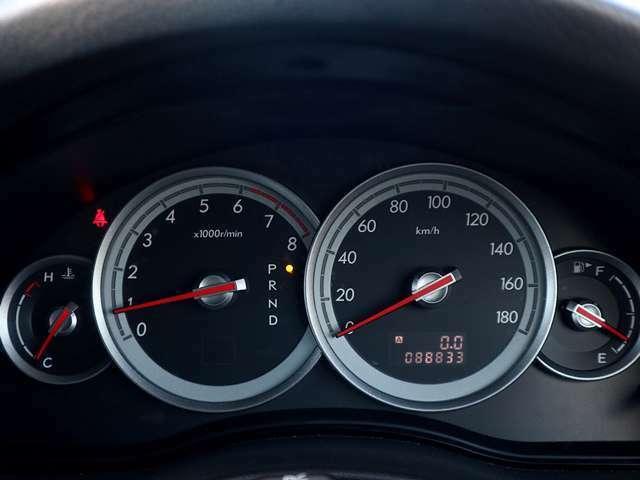 【メーター】現在の走行距離88,833kmでございます。