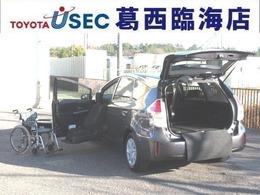 トヨタ プリウスα 1.8 S ウェルキャブ 助手席リフトアップシート車 Bタイプ TSS サイドSRSレス スマートキー