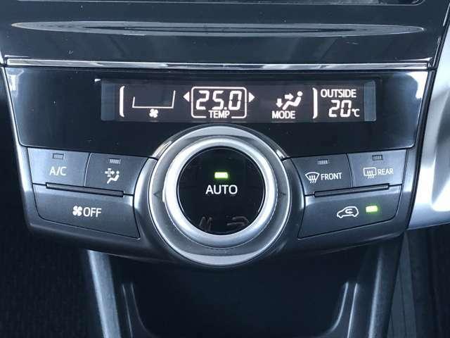温度設定が容易に行えるオートエアコン装着車