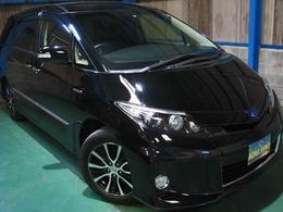 トヨタ エスティマハイブリッド 2.4 アエラス レザーパッケージ 4WD HDDナビ5.1chリヤエンタ黒革WSR両電PBドア