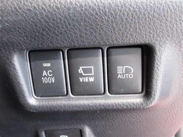 AC100Vコンセント装備してます。いろいろ使えて便利な装備です。