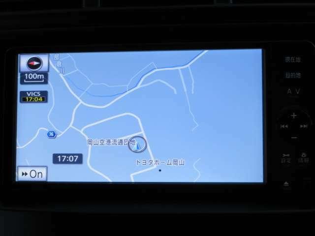 ナビゲーションシステムを装備!初めての道も安心・快適ドライブ!!目的地設定も簡単・楽々!!