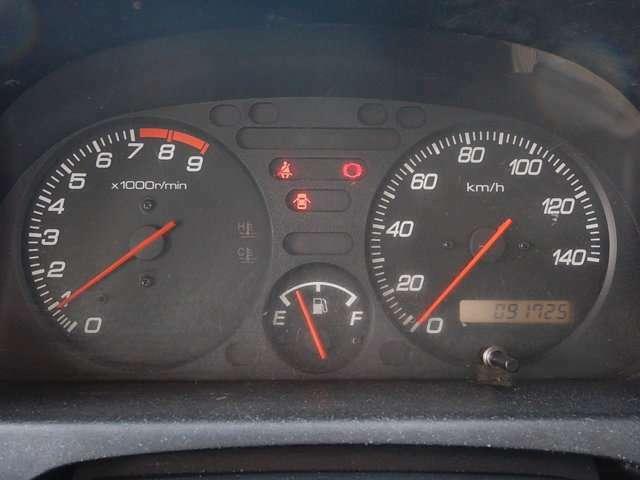 【メーターパネル部】現在の走行距離は約91,730kmです。まだまだ元気な車ですよ♪