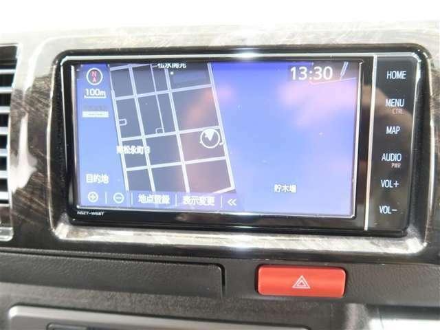 NSZT-W68Tフルセグチューナー付きメモリーナビで初めての場所や道も安心です。