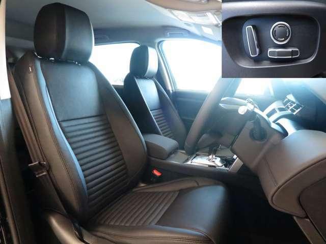 細部にいたるまでデザインにこだわり抜いて設計されたシートは長時間の運転でも疲れにくく、しなやかな座り心地。12way電動調整シートを備えております。