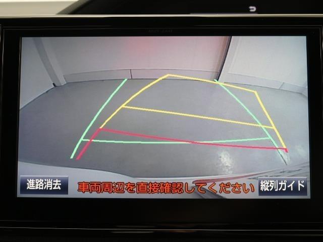 ガイドラインも表示されるバックカメラが付いているので、車庫入れが苦手という方も安心です