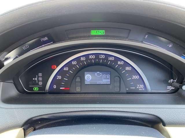 <スピードメーター>メーターはすっきりとしたデザインでとても見やすく安全運転のお役に立ちます!