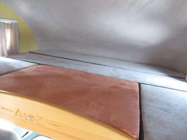 バンクベットは大人2名ゆったり就寝可能!ベットサイズは縦135cm横180cmと広々としております!