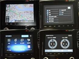 8インチ画面のタッチスクリーンでナビゲーションをはじめとする多彩な機能を使えるスマートフォン連携ナビゲーション!
