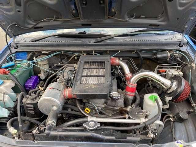 リビルトエンジン&タービン交換済で新車なみ!エアクリ等装着!