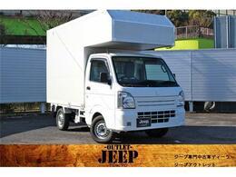スズキ キャリイ 660 KCエアコン・パワステ 3方開 移動販売車 シンク 冷蔵庫 エアコン タンク