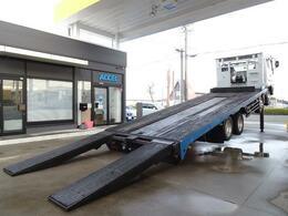 三菱ふそう スーパーグレート 重機運搬車 積載10.2t  セルフ 大型 ハイジャッキ 自動歩