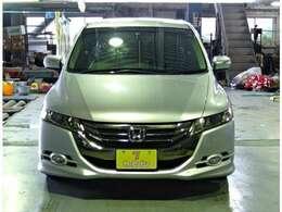 ホンダ オデッセイ 純正HDDナビ バックカメラ ワンセグ Bluetooth ETC 4WD 横滑り防止 HID オートライト