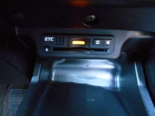 ETCを装備しているので、料金所でもスイスイ進めちゃいます。ビルトインタイプで収納もスッキリ!