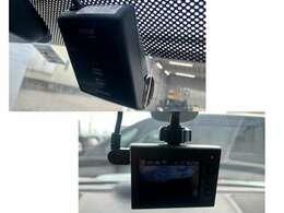 前後に配したドライブレコーダーで、万が一の場合でも安心です。