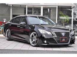 トヨタ クラウンアスリート ハイブリッド 2.5 S 黒革シート SR クリソナ WORK20AW 車高調