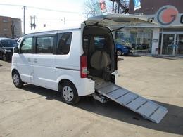 スズキ エブリイ 660 ウィズ 車いす移動車 補助シート付 電動固定式 4WD スローパー福祉車両
