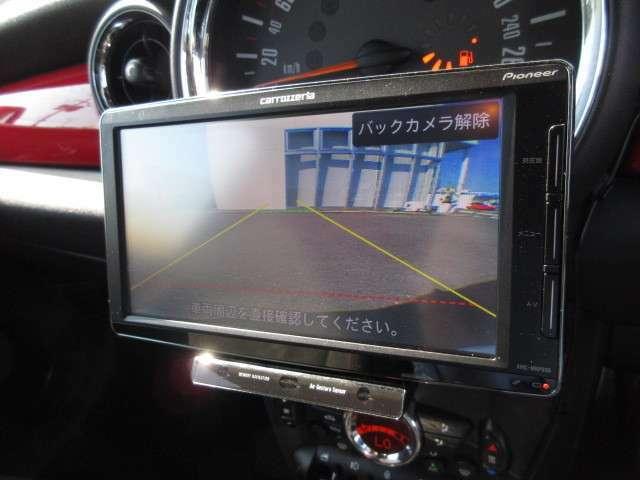 リアカメラが付いています。車庫入れをアシスト致します。