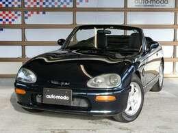 ロングノーズ&ショートデッキのオーソドックスなスポーツカースタイル。ボディカラーは伝統的な英国スポーツカーを彷彿とさせるダーククラシックジェイドパ-ルです。