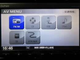 音楽ソースはCD/SDに対応できます