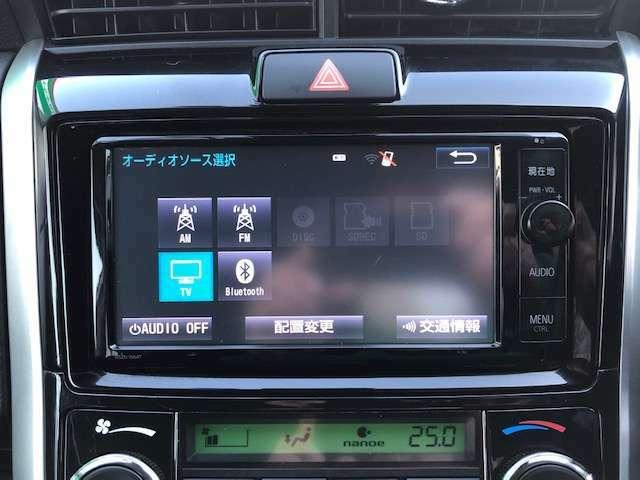 純正SDナビ付き!DVD再生、ミュージックサーバ・SD録音機能、フルセグTV、Bluetoothオーディオ、バックモニターと装備が充実しております!