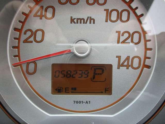 走行58239kmです。