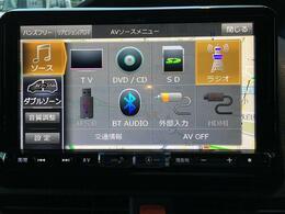 【社外メモリナビ】フルセグTV/DVD再生/Bluetooth/CD