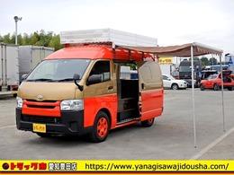 トヨタ レジアスバン ハイルーフ 加工車 冷蔵庫 換気扇 シンク有 3人乗 AT