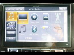 ALPINE10型ナビを装備。フルセグTV、ブルートゥース接続、DVD再生可能、音楽の録音も可能です。