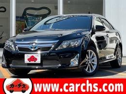 トヨタ カムリハイブリッド 2.5 Gパッケージ プレミアム ブラック 特別仕様車 ハーフレザー 純正ナビ BT対応