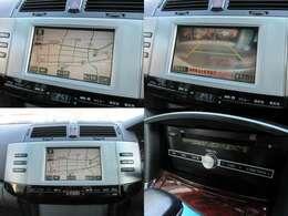 純正DVDナビが装備されております♪画面もクリアで運転中も確認しやすいです♪バックカメラも装備されているので駐車の時もアシストしてくれます♪また純正のオーディオが装備されています♪