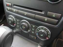グローブをつけても使用しやすいダイヤルタイプのオートエアコン及びシートヒーター