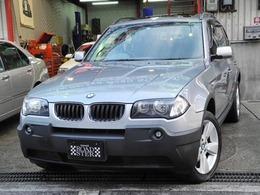 BMW X3 2.5i 4WD 黒本革サンルーフ付禁煙車走行46000KM