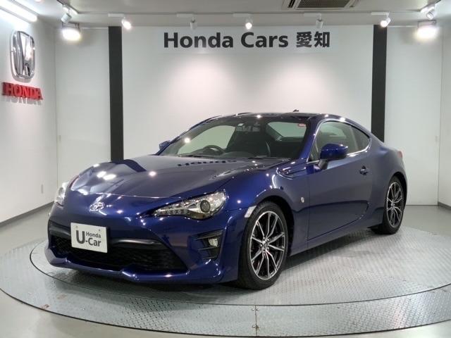 社外メモリーナビ 純正AW LEDヘッドライト ETC クルーズコントロール装備のトヨタの紺色の86 GT入庫しました。
