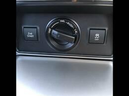 パートタイム4WD装備。路面状況に合わせて切り替えが可能です。