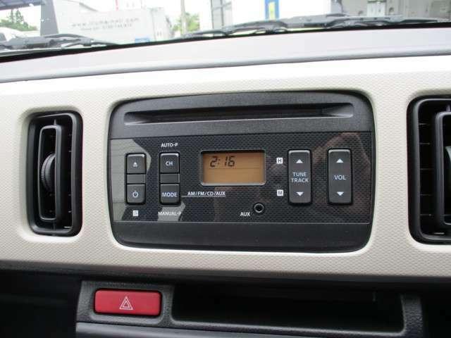 CDプレーヤー付きですので、お好きな音楽を聴きながらドライブできますね♪