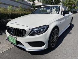 メルセデスAMG Cクラスカブリオレ C43 4マチック 4WD AMG 白革