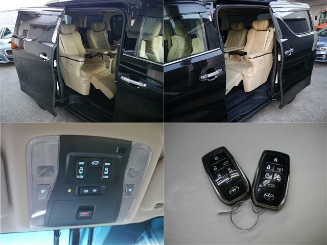 ワンタッチスイッチ付デュアルパワースライドドア(ドアヒンジと運転席スイッチ、スマートキーから操作可能です)