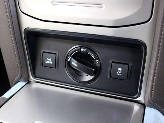 プラドのフルタイム4WDは曲がる時やスリップ時に車両の安定性を最適にコントロールしてくれます。