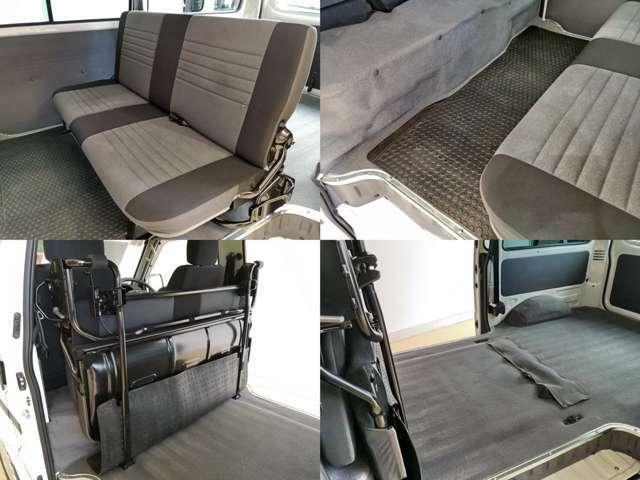 乗用ユースとしても充分快適に使用できるセカンドシート コンディションも良いですよ