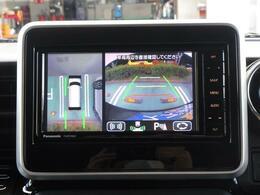 メーカーオプションの全方位モニター装着車!前後左右4つのカメラを使用し駐車を視覚的にアシスト!雨の日や暗い時にも見えやすいので運転が不慣れなお客様はもちろん、ベテランドライバーにもオススメです♪