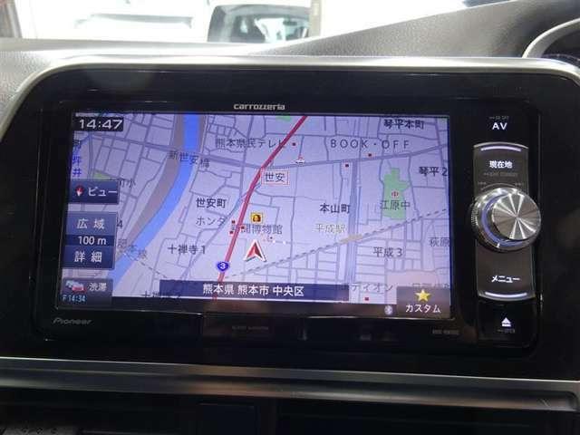 ナビ付なので、遠出の際も道に迷うことはありません♪安心してドライブをエンジョイして下さい♪(AVIC-RW800)