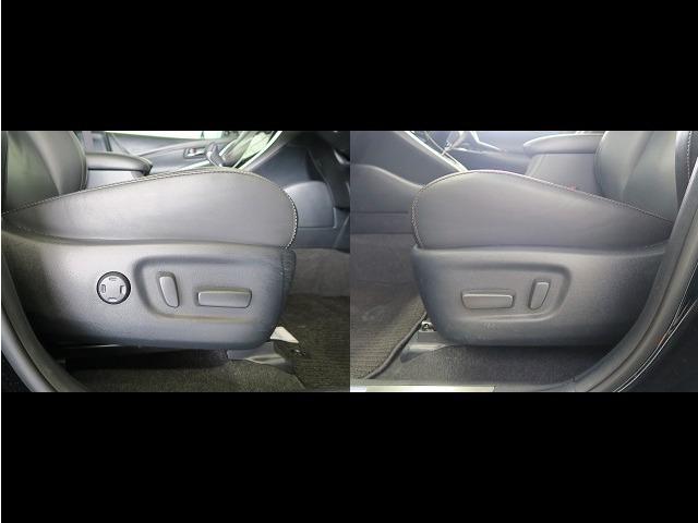 運転席・助手席ともにパワーシートとなっています。無段階で体格に合わせた調整ができます。
