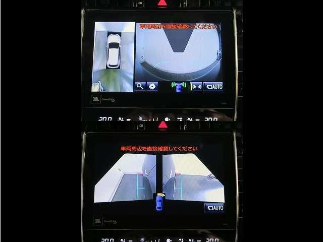 フロントとサイドミラーにもカメラが配置され死角の確認に役立ちます。