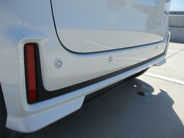 軽自動車初!リヤバンパーに4つの超音波センサーを内臓し、車両後方にある障害物を検知。バック時にもブレーキが作動します。