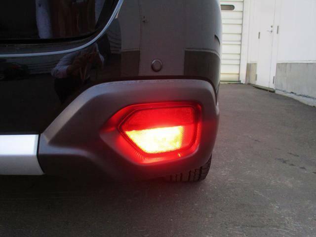 バックフォグランプは吹雪や霧で視界が悪い状態時に後続車へ存在を知らせる効果があります。(片方のみの点灯です)