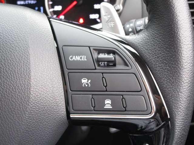 先行車に追従機能のついたレーダークルーズコントロール