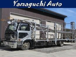 UDトラックス コンドル キャリアカー 4台積 積載車 5.4t積 ハマナワークス リアゲート昇降装置付き