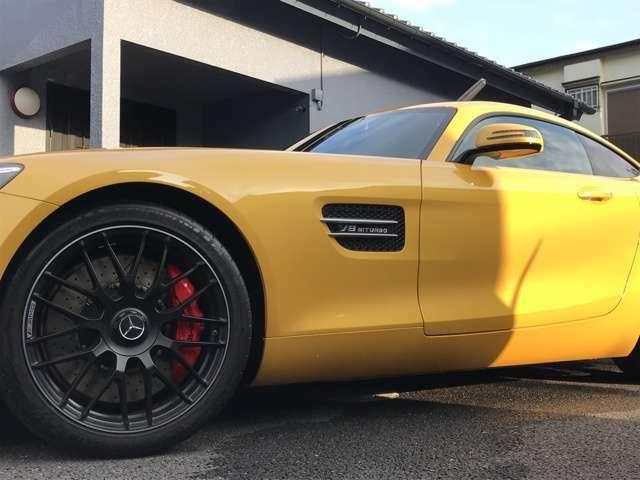 メルセデスAMG GT S AMGダイナミックプラス!!マットブラックペイント19/20インチAMGクロススポークアルミホイール