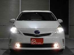 省エネと耐久性にも優れた、明るいLEDヘッドライトを標準装備。